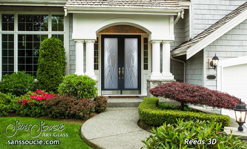 Residential Double Front Doors double entry doors - sans soucie art glass