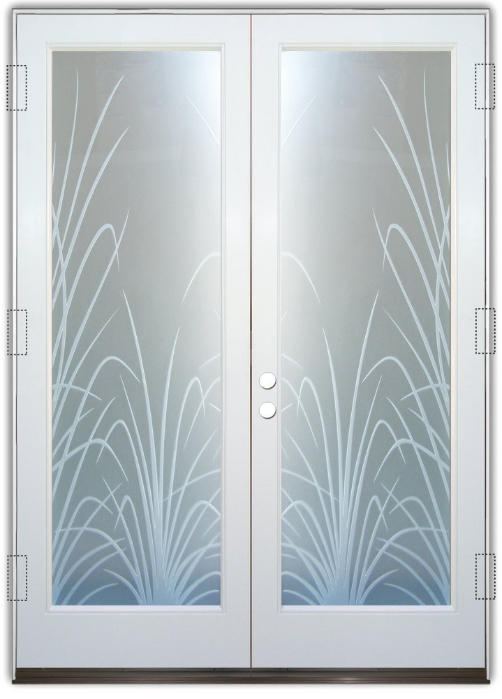 Frosted Glass Doors Wispy Reeds