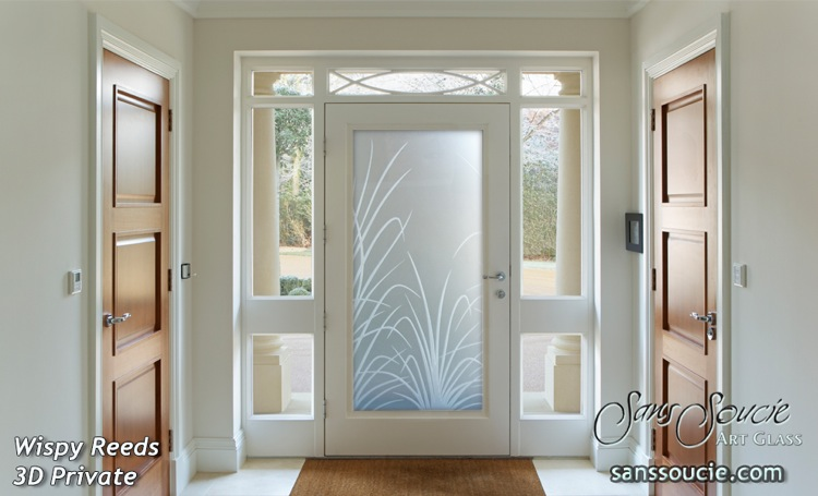 Superbe Etched Glass Doors Etched Reeds
