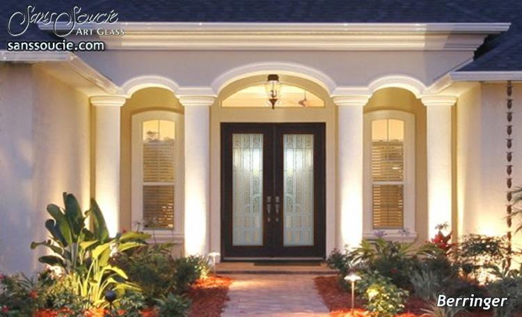 etched glass entry doors - Sans Soucie Art Glass