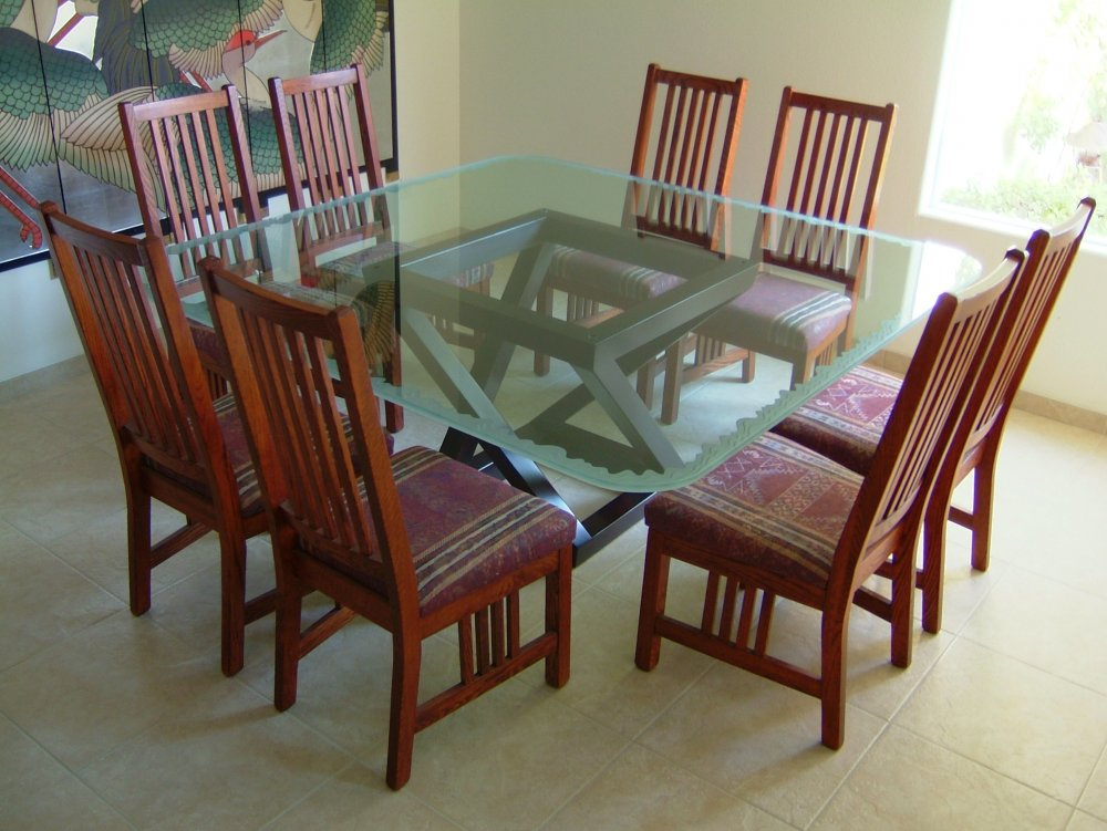 Traditional Glass Dining Tables glass dining table - sans soucie art glass