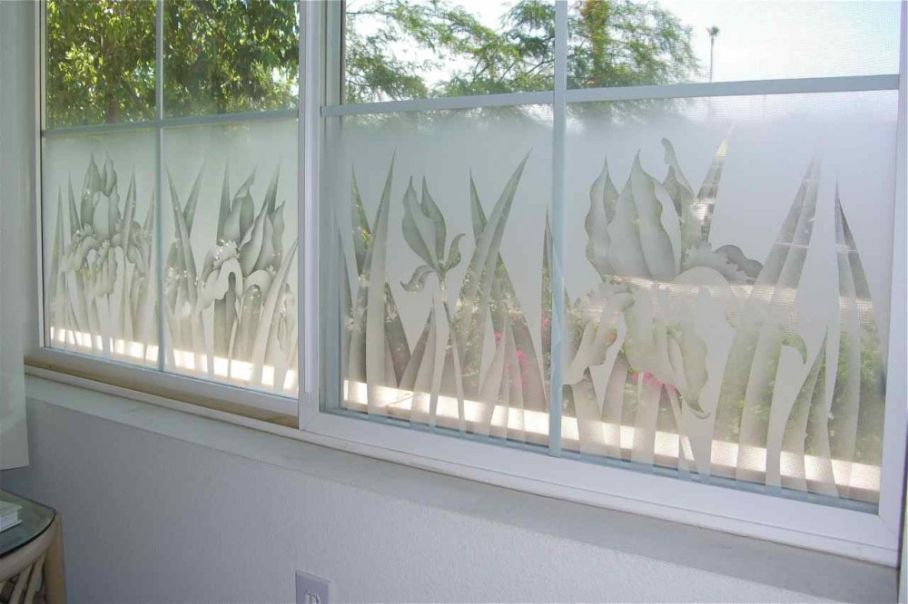 Frosted glass windows sans soucie art glass for Window etching