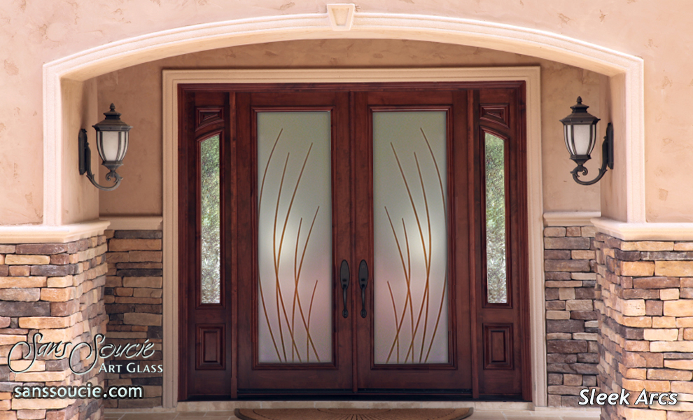 Painted Glass Doors Arcs Contemporary
