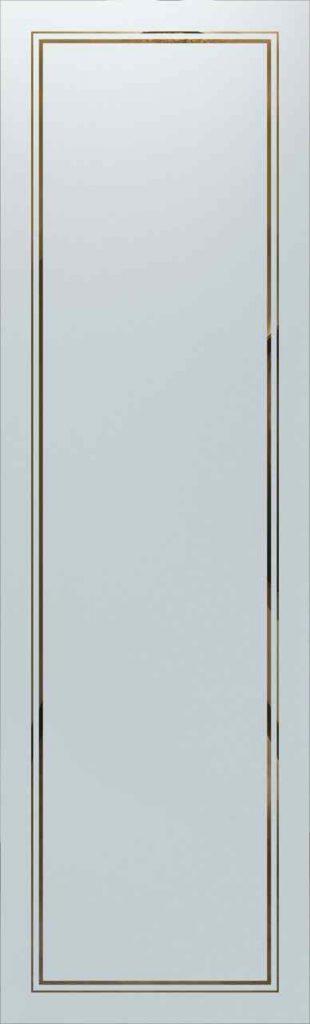 door glass insert etched glass 2 pinstripe border