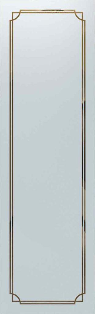 Door Glass Insert Concave Overlap