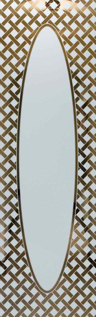 Door Glass Insert Lattice Elipse Border
