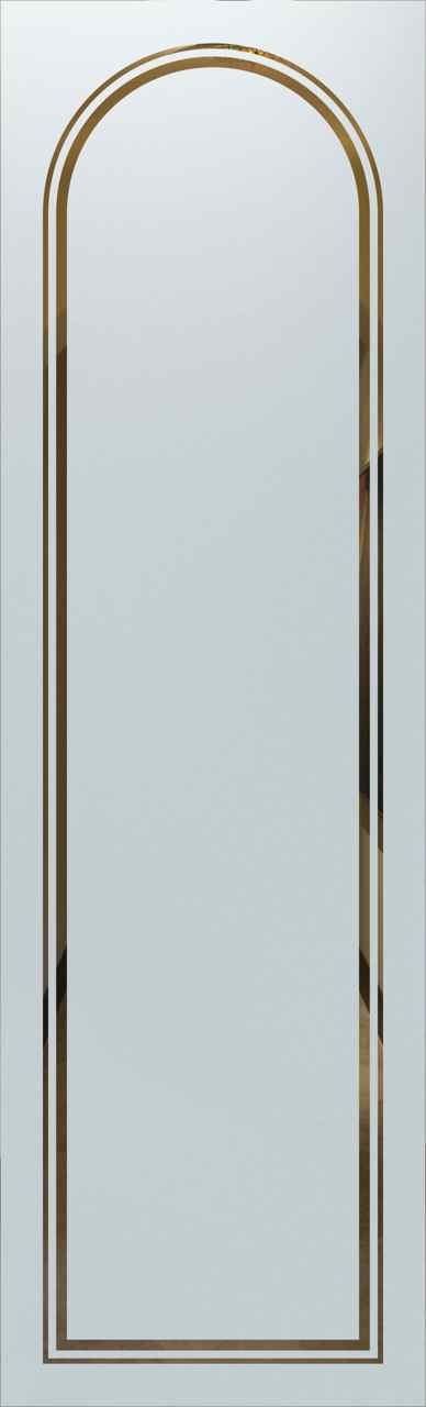 Door glass insert l etched radius border l sans soucie for Table th border radius