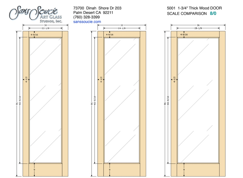 Door Frame Specs French 5001 1 3 4 Quot Thick Door 8 0