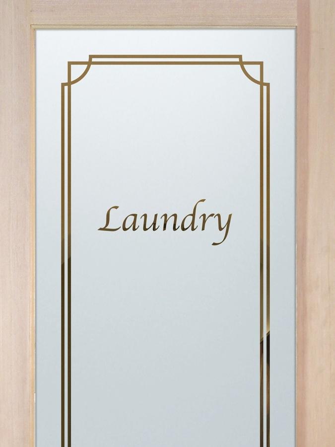 laundry room door glass etching sans soucie