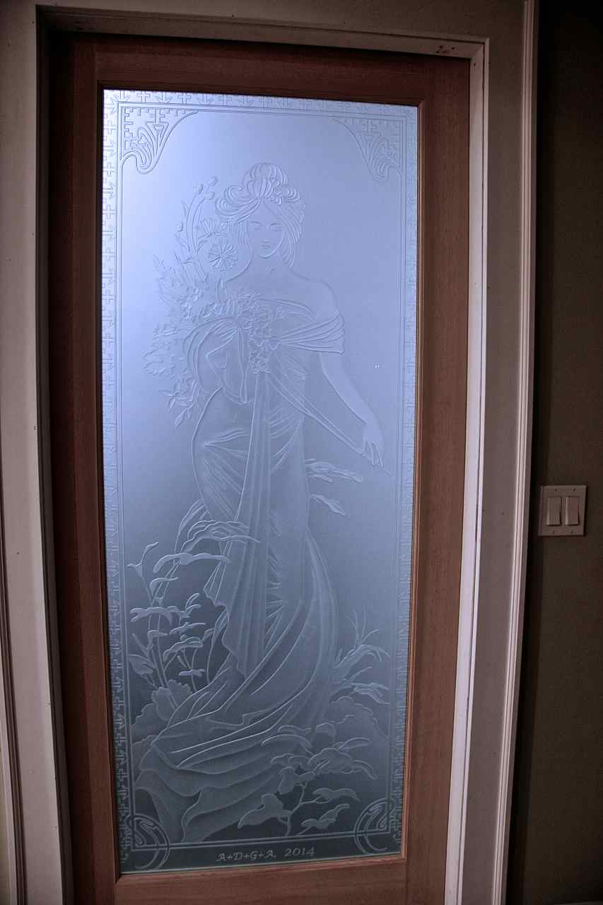 Printemps woman etched glass doors sans soucie entry doors etched glass french style printemps woman portrait rubansaba