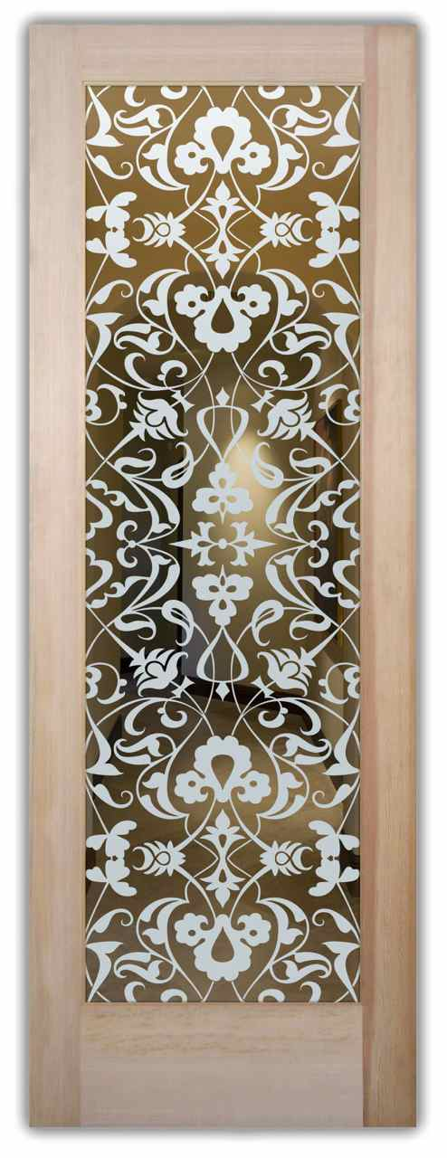 Etched Glass Front Doors Victorian Decor