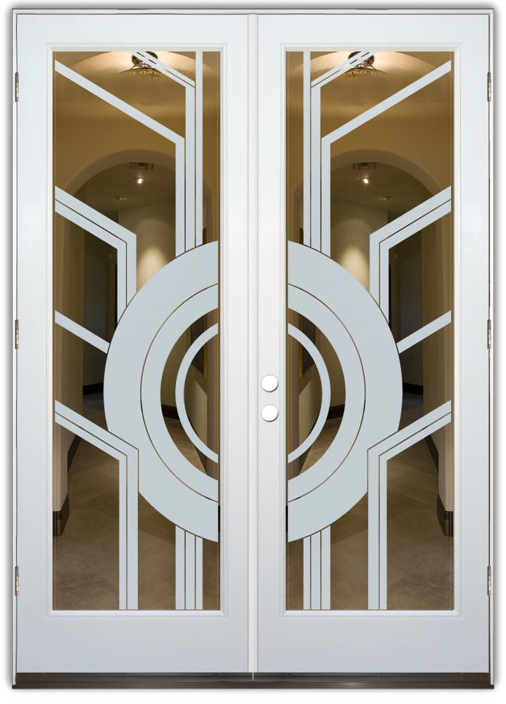 glass front doors contemporary modern decorative etched glass sans soucie