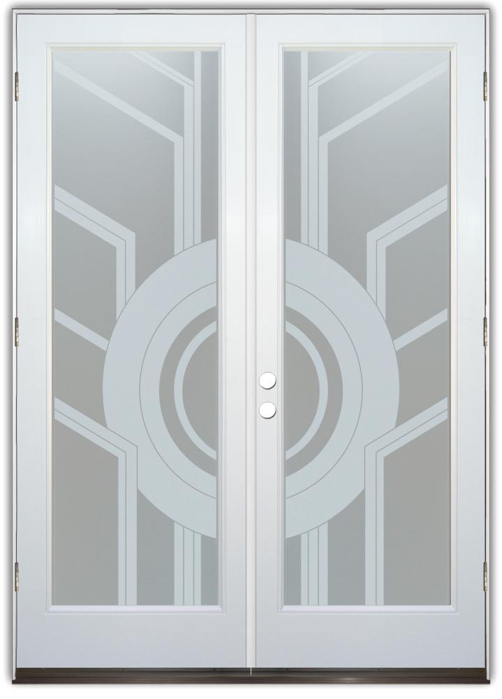 Gl Front Doors Contemporary Modern Decorative Etched Sans Soucie