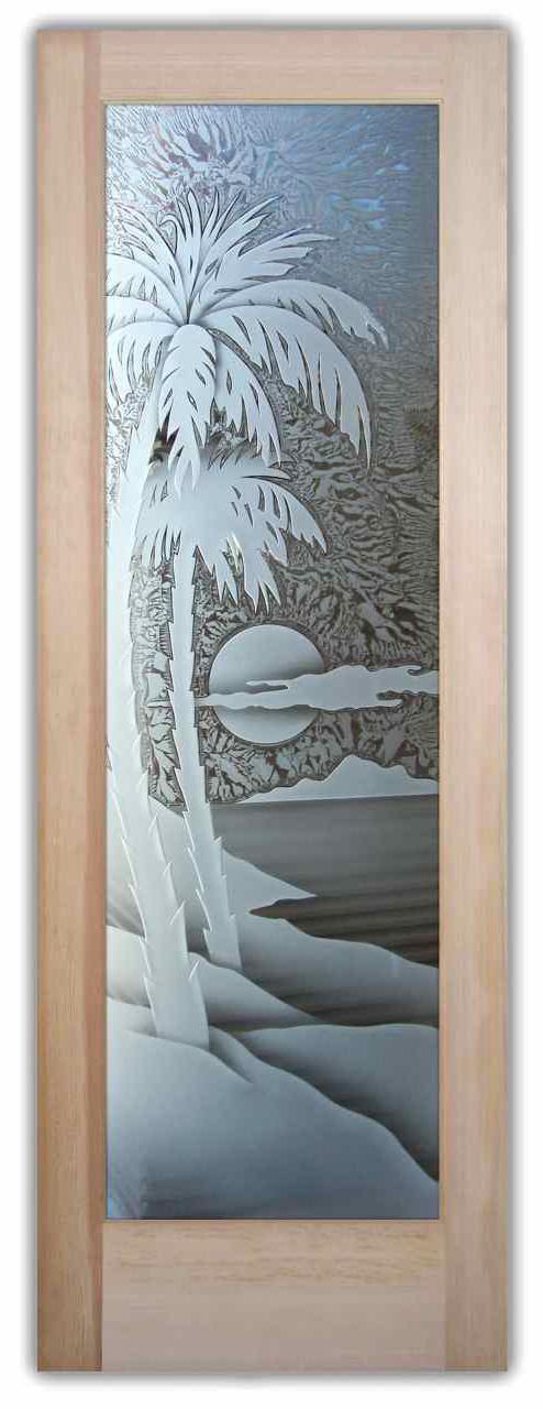 A 01 beach palm sunset 3D GC door