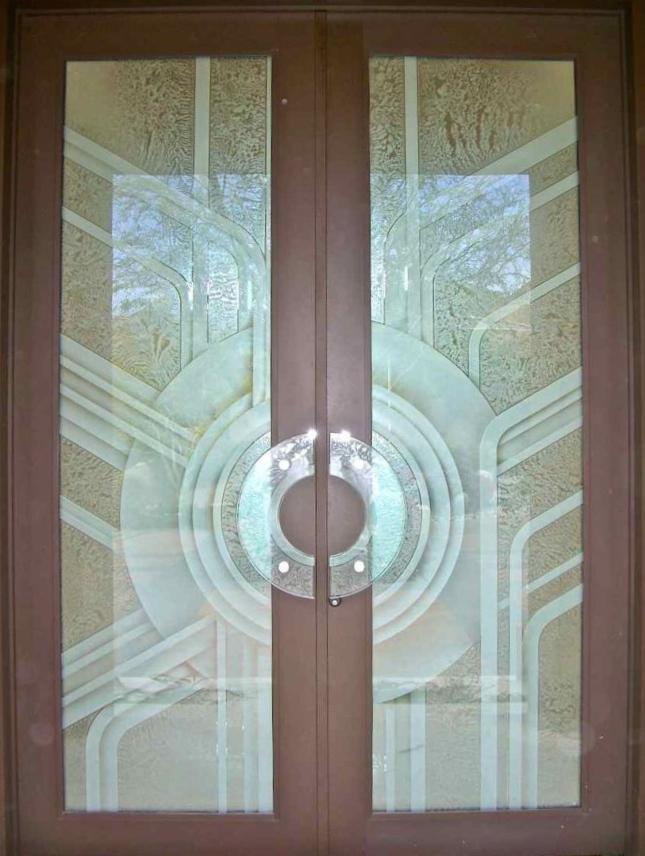 $4,200 3D Carved Fiberglass Doors, plus ,040 for Glass Door Pulls