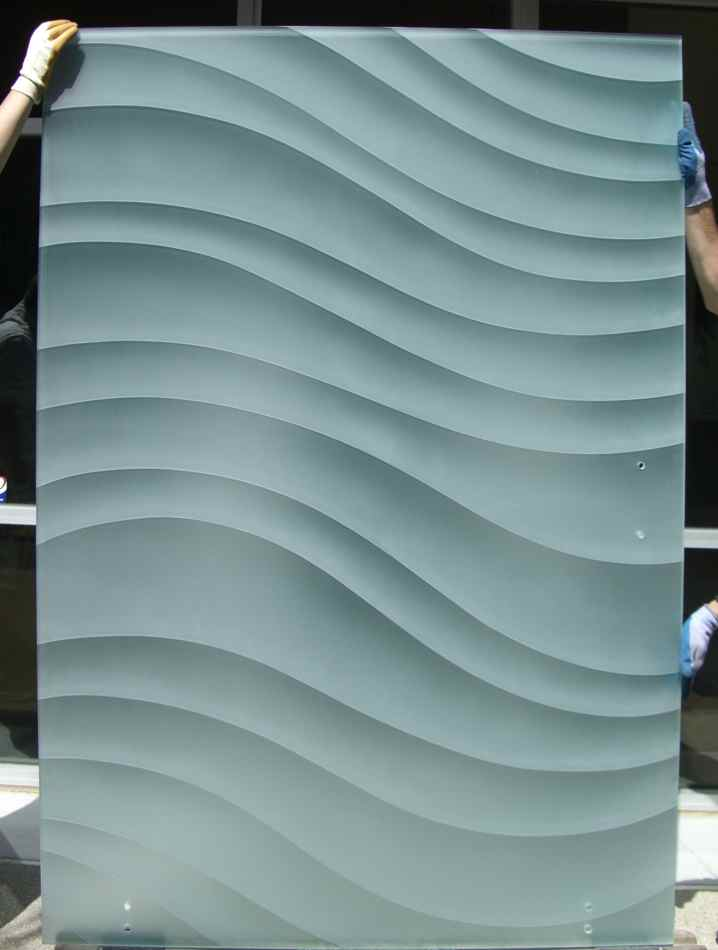 Dreamy waves 3d private sliding barn door sans soucie for Frosted glass barn door