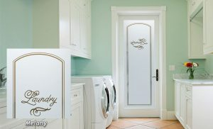 Laundry Room Door Solid Frosted Glass by Sans Soucie