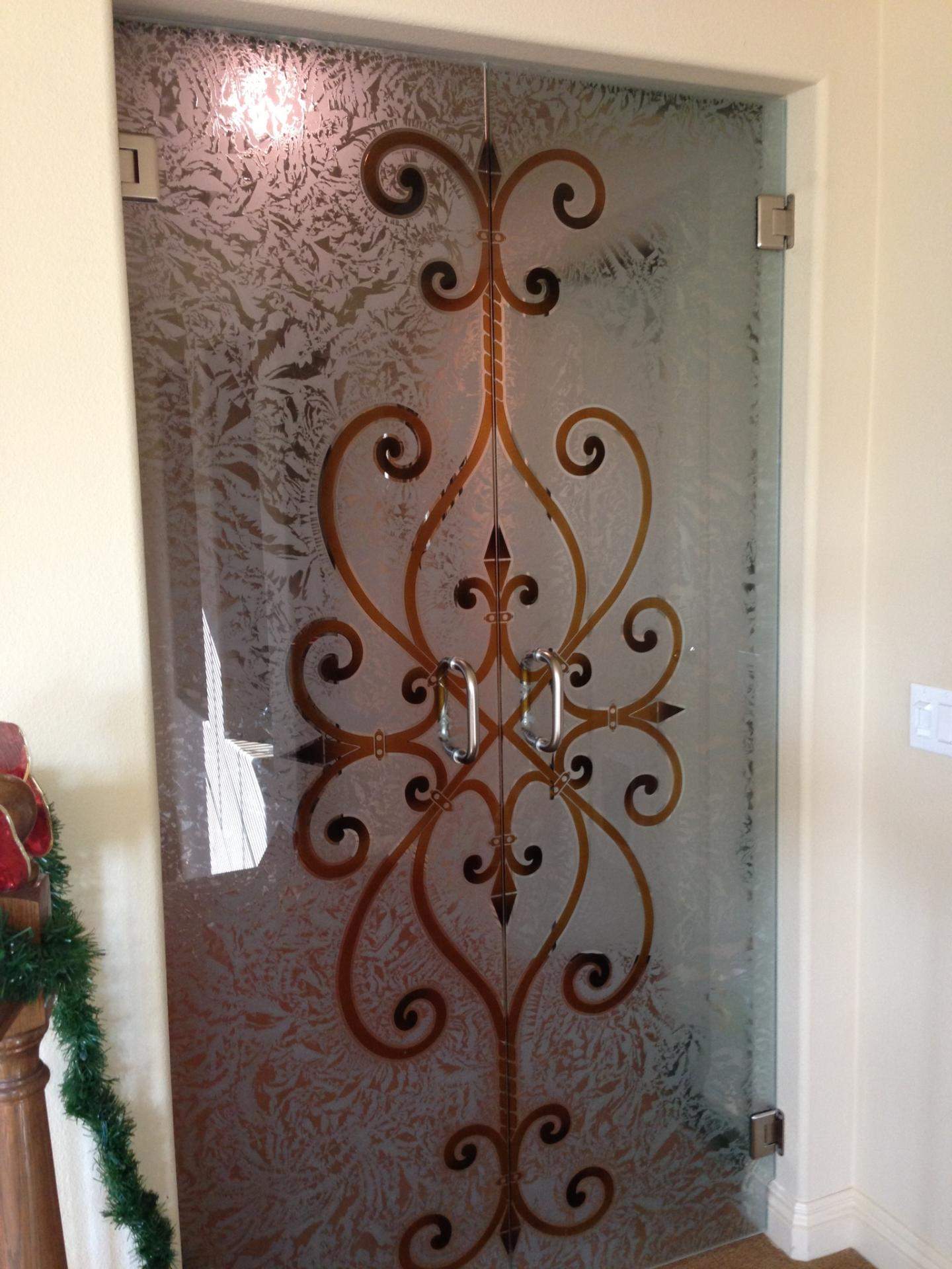 glass clear vs doors iron shower gallery etched company franklin low door
