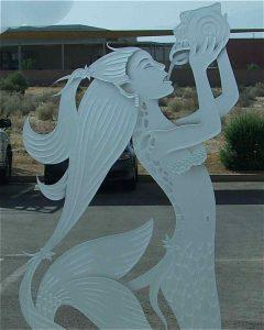 Sans Soucie Glass Door and Windows Craved Beach Coastal mermaid