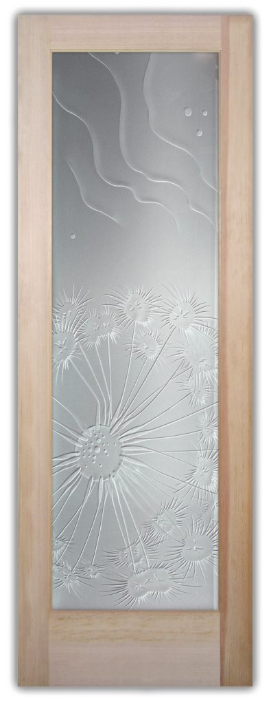 Fan Coral Ripples 3D Enhanced Private Etched Glass Door