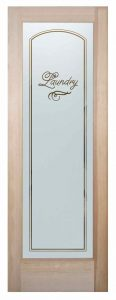 Sans Soucie Laundry Room Door Solid Etched Glass