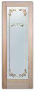 Laundry Room Door Etched borders by Sans Soucie