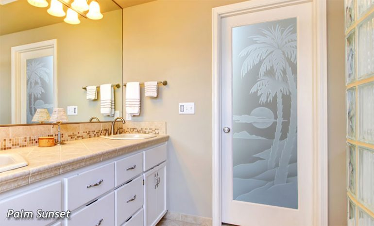 bathroom glass doors - sans soucie art glass
