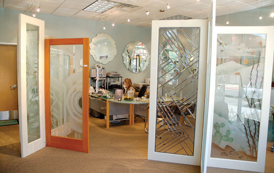 Etched Glass Frosted Decorative Custom