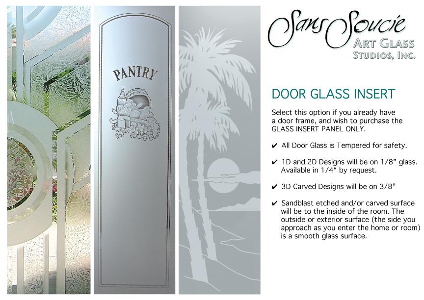 door glass inserts sans soucie