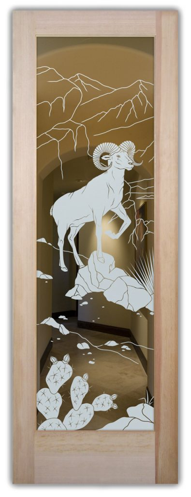 etched glass door bighorn 1d positive