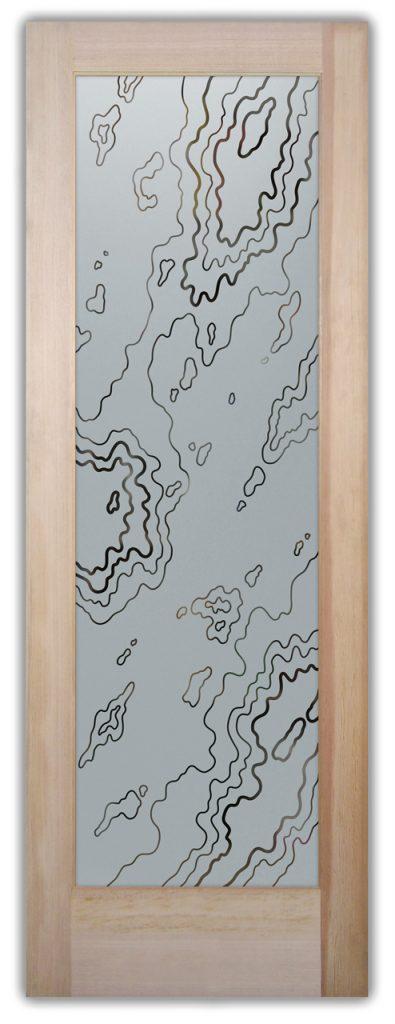 pantry door amoeba 1D pinstripe