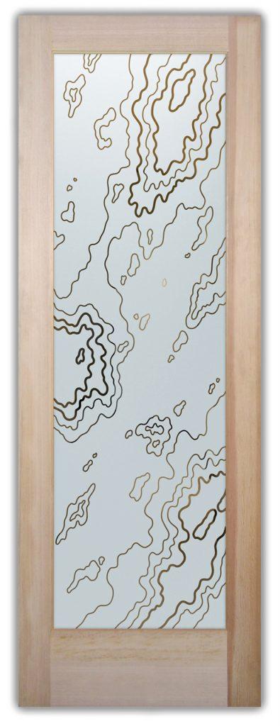 etched glass door amoeba 1d pinstripe