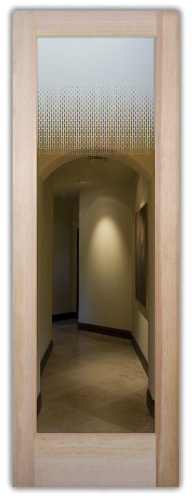 Interior Door Frosted Glass Geometric Sans Soucie