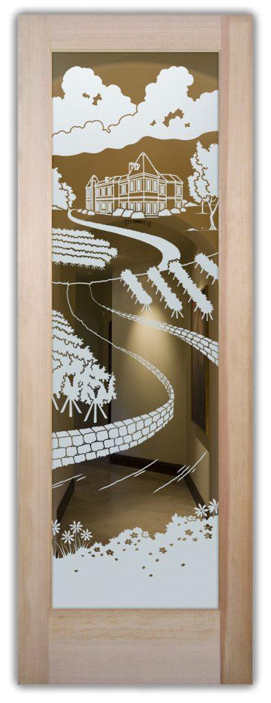 Interior Door Etched Glass Tuscan Sans Soucie