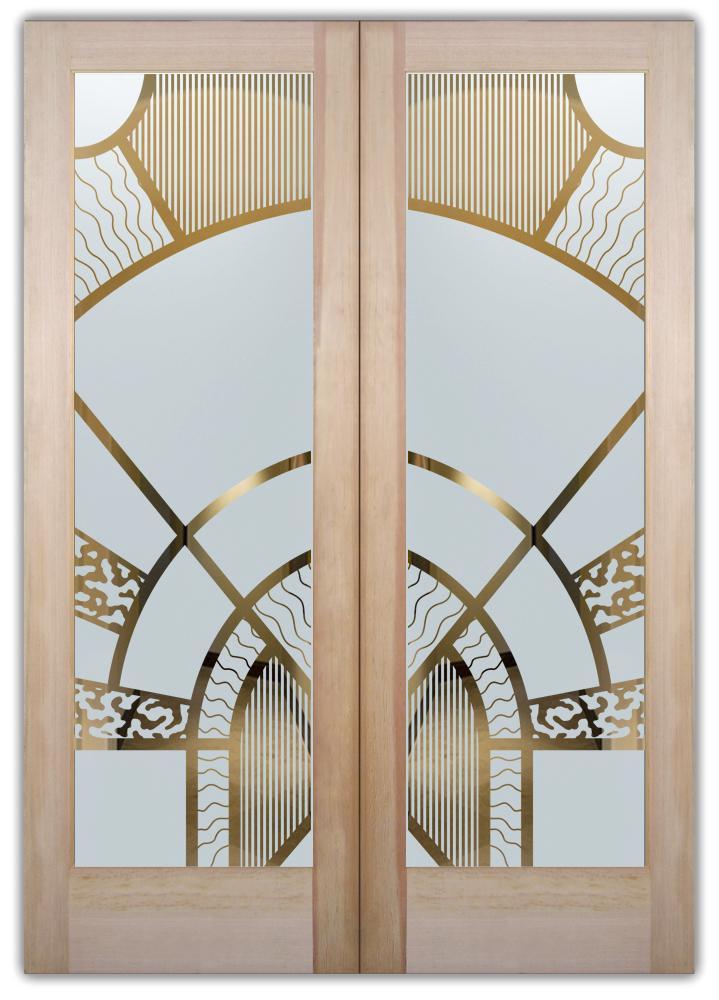 Matrix Arcs 1d Negative Etched Glass Door Sans Soucie