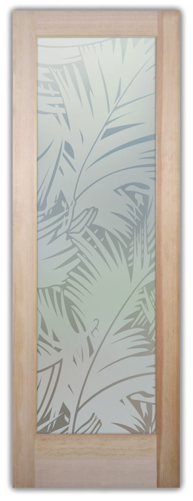 Fronds 1D Private Etched Glass Door