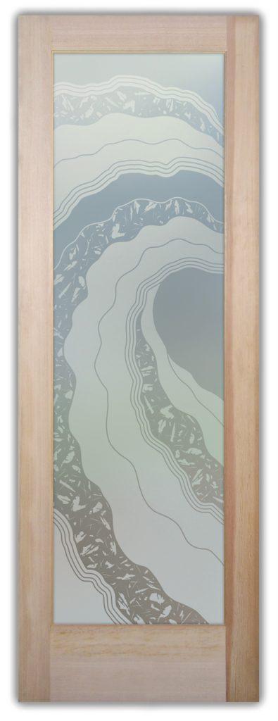 Metacurl 1D Private Etched Glass Door