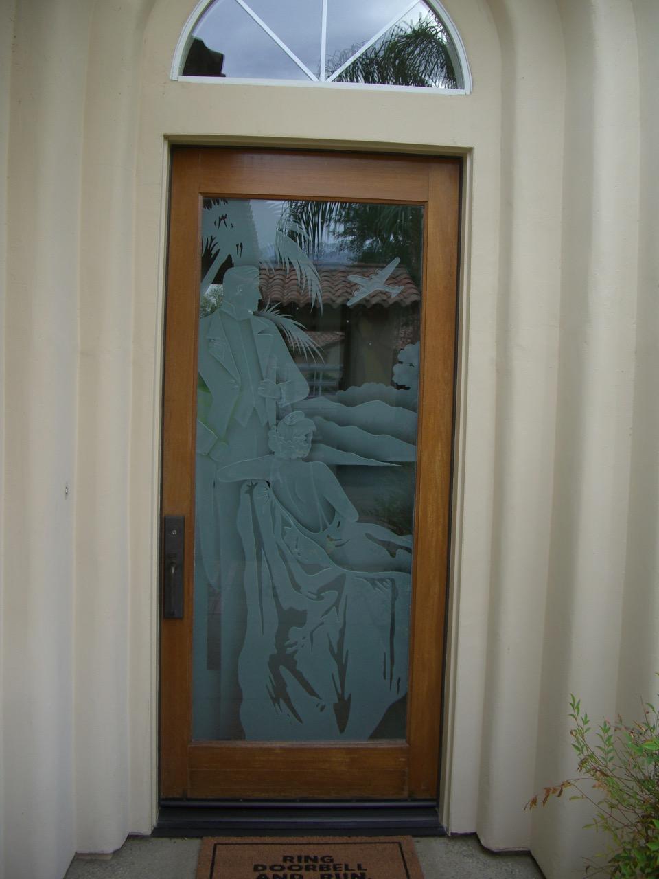 Debonair 3d Shaded Door Glass Insert Sans Soucie