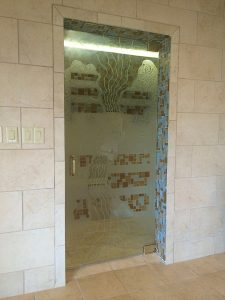 Shower Door Carved Gluechipped Painted Rustic Sans Soucie