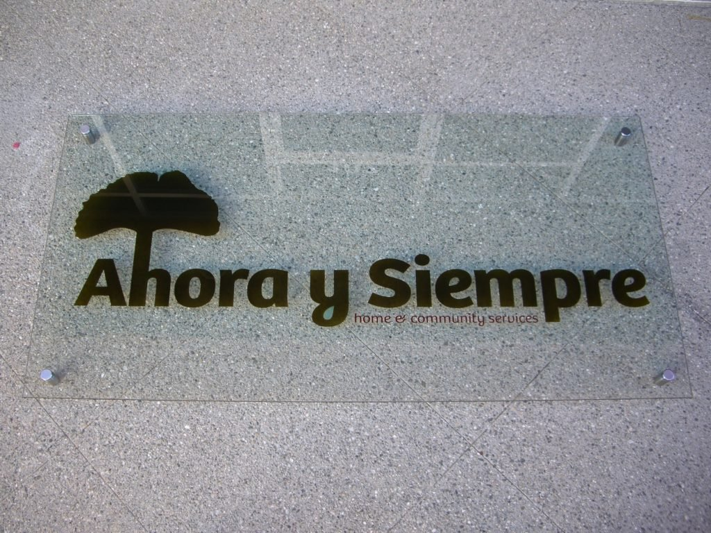 Glass Signs - 3D Solid Painted - Ahora y Siempre