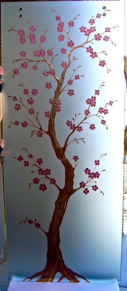 Frameless Doors Cherry Blossom 3D Paint