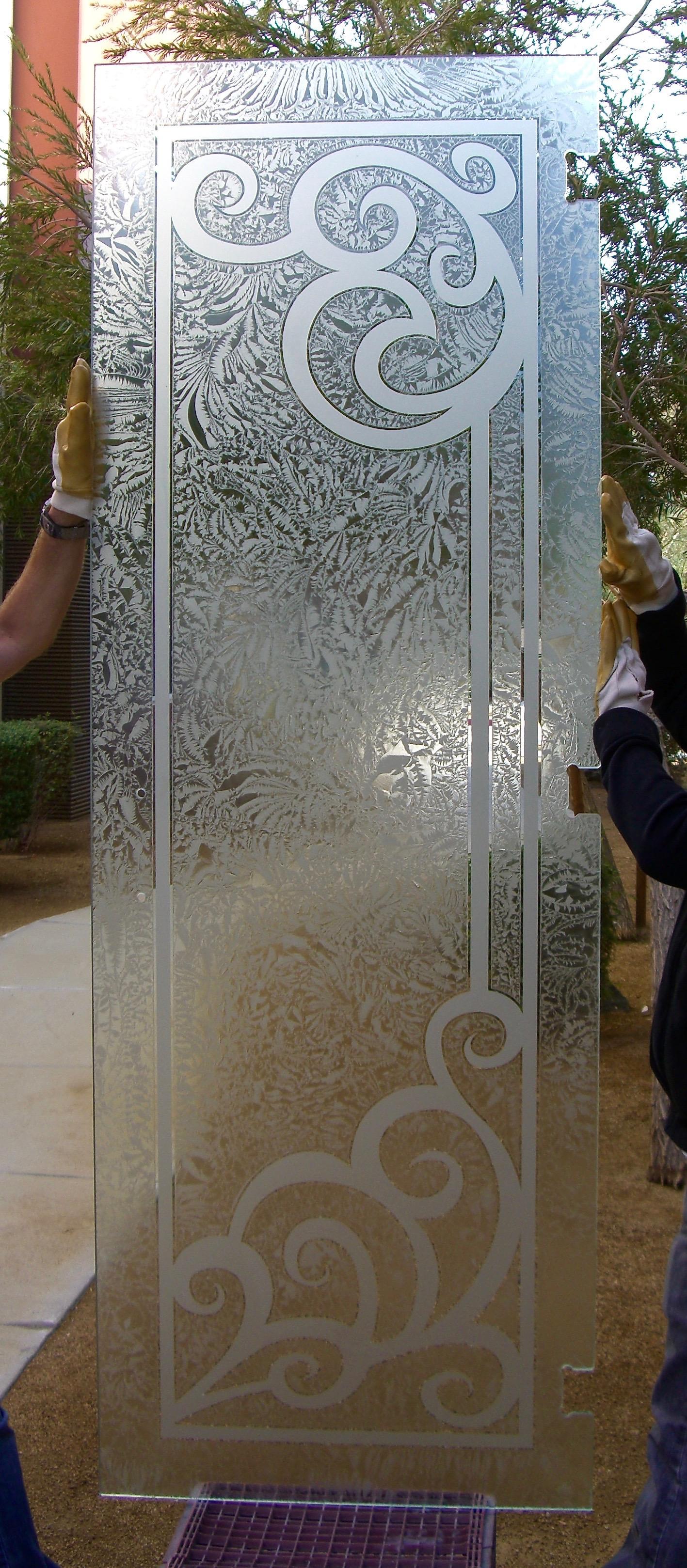 Concorde 1d Gluechipped Door Glass Inserts Sans Soucie