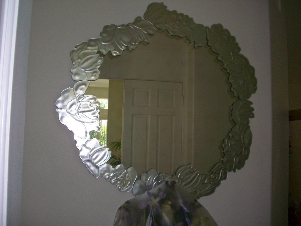 Decorative Mirrors Peony 3D Overlay