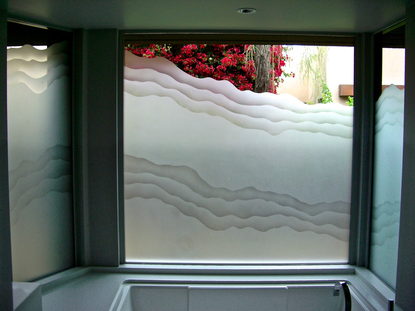 Rugged Waves 2d L Etched Glass Windows L Sans Soucie