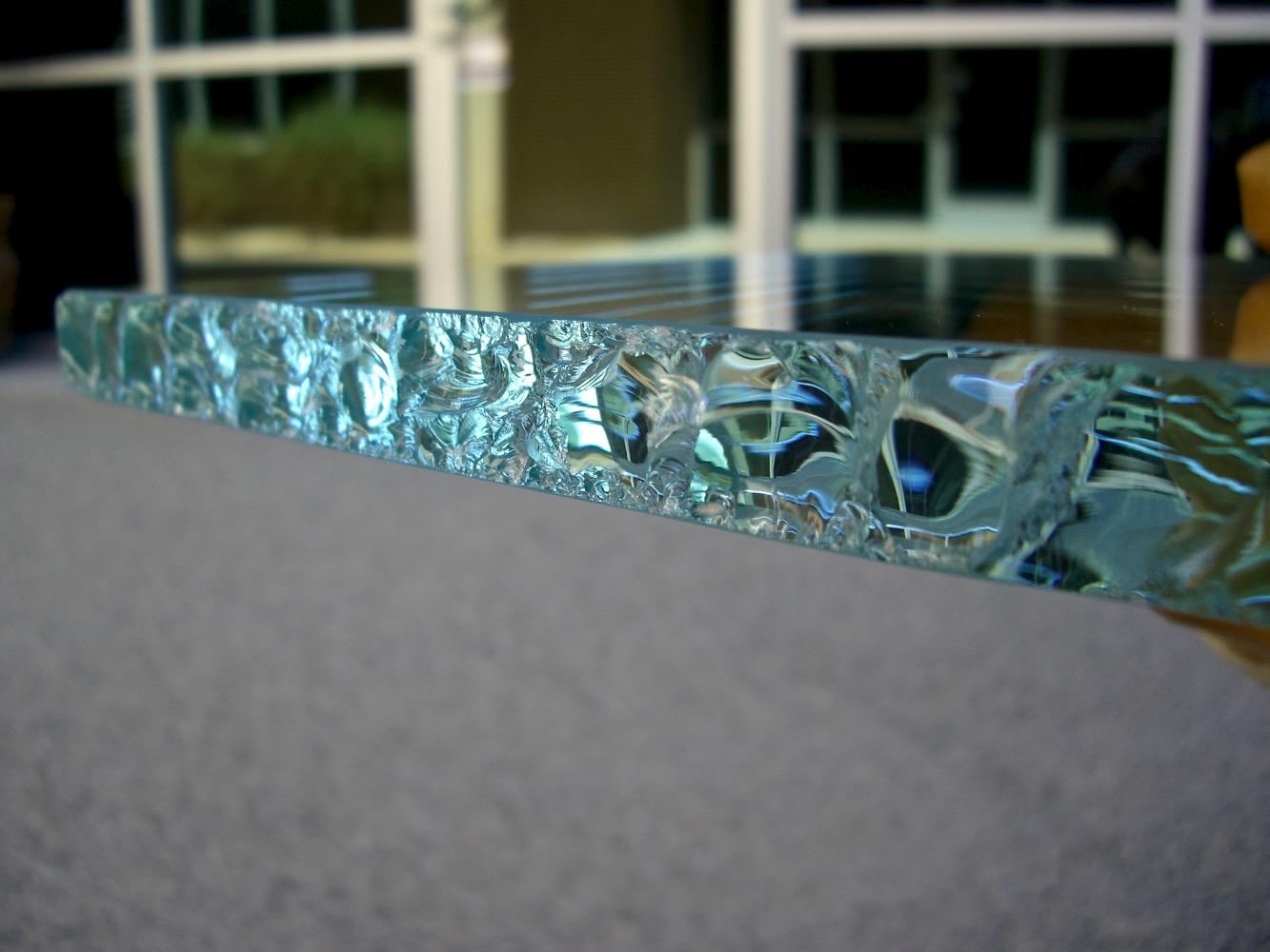 Sample Chipped Glass Sandblast Sans Soucie Art Glass