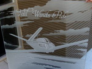 Glass Signs Tail Winds Logo 3D