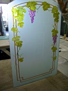 Window Insert Carved Glass Tuscan Sans Soucie