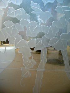 Glass Entry Door Insert Glass Etching Mediterraen Sans Soucie