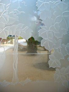Glass Door Insert Glass Etching Wine Celler Sans Soucie