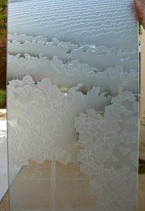 Glass Front Door Insert Glass Etching Landscape Sans Soucie